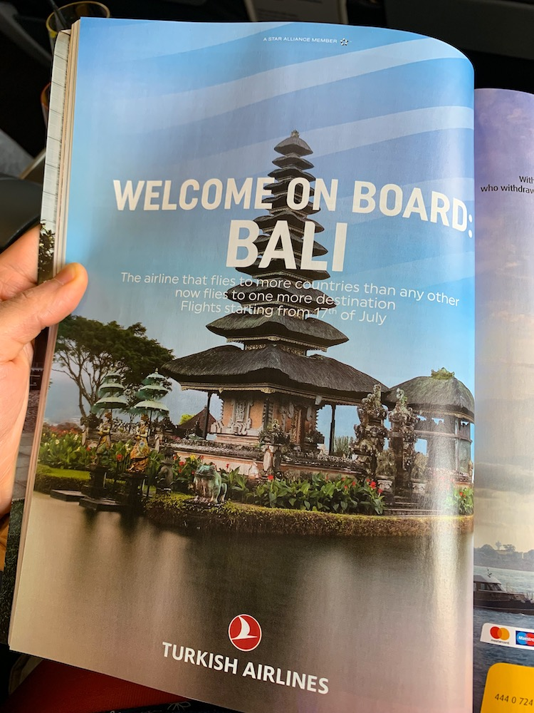 Turkish Airlines New Route - Denpasar Bali